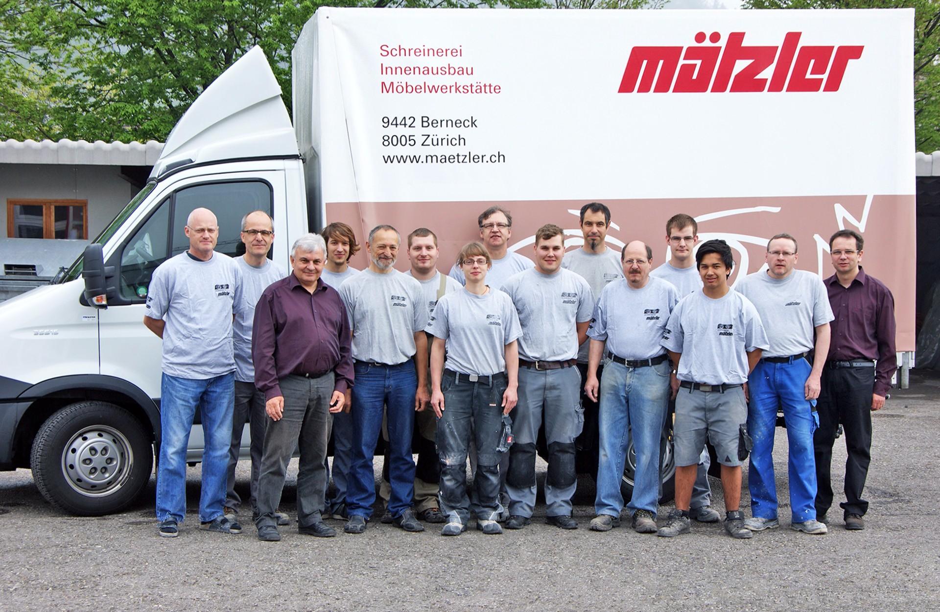 Mitarbeiter Schreinerei Mätzler