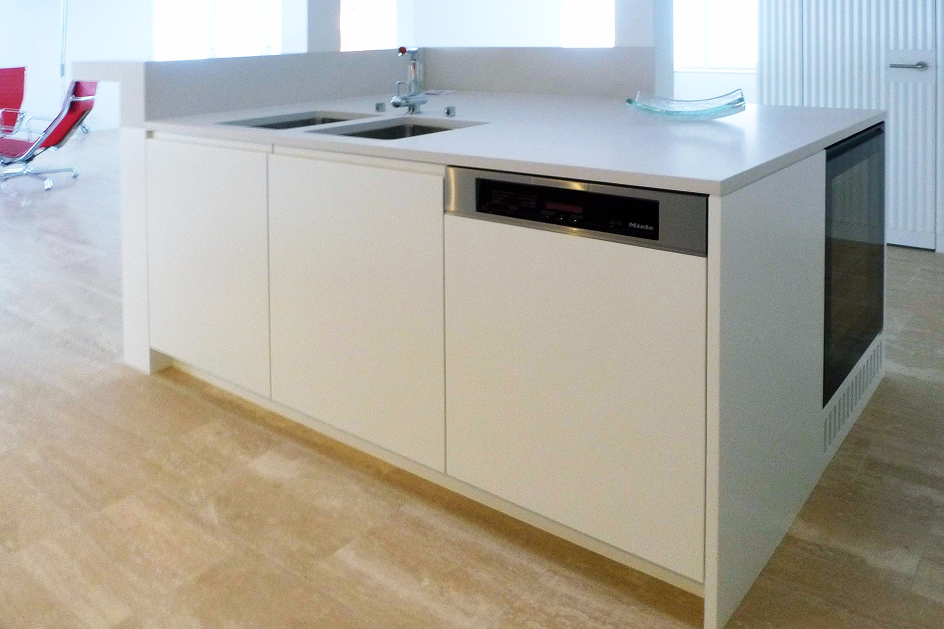 Küche Schleiflack Abdeckung Kunststein