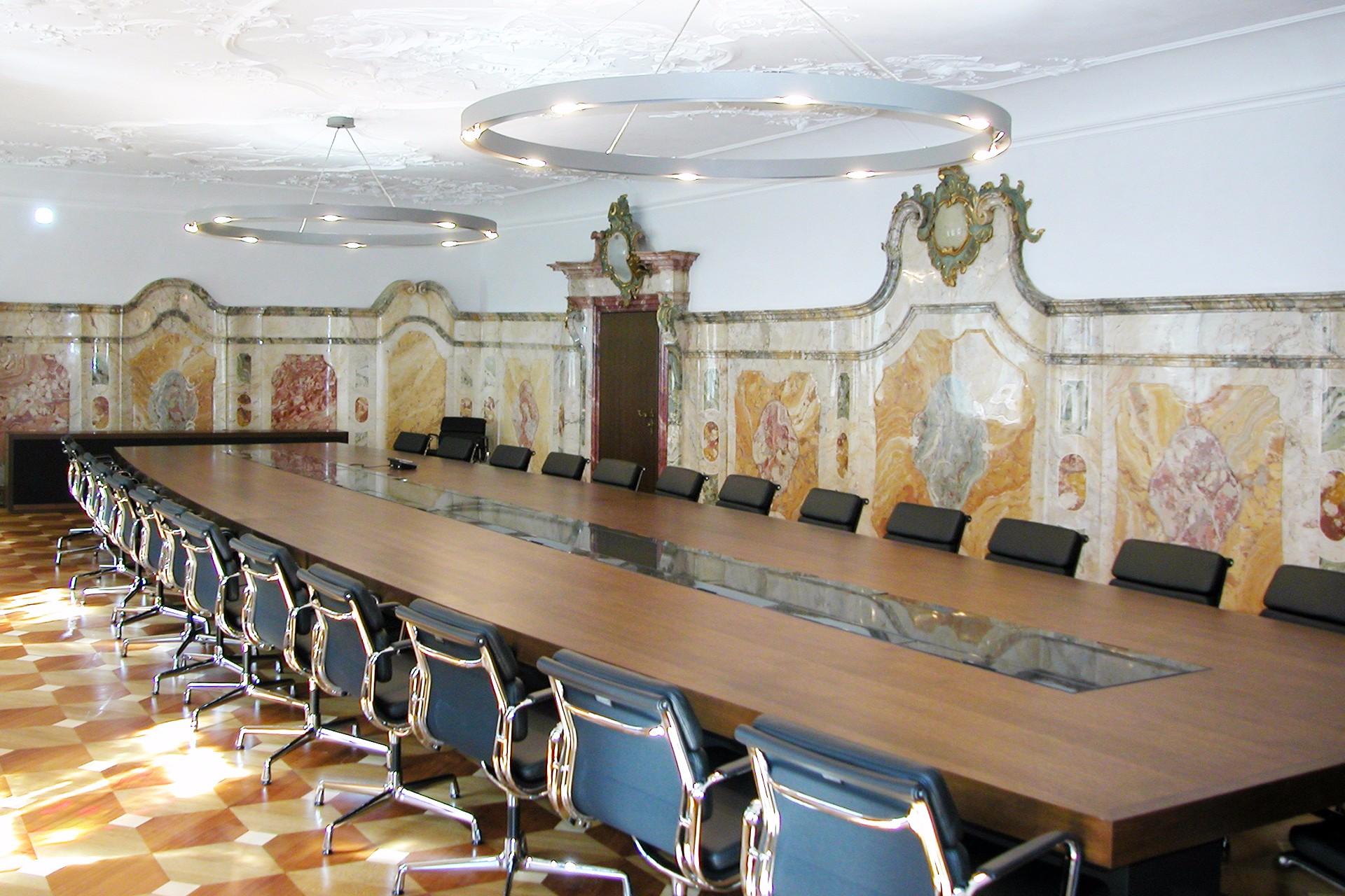 Konferenztisch Mediatechnik Tafelzimmer St. Gallen