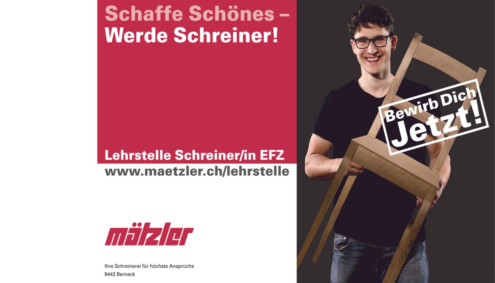 Lehrstelle Schreiner St. Gallen